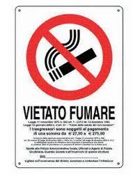 CARTELLO PVC VIETATO FUMARE